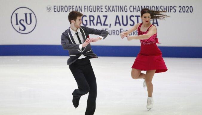 Latviju pārstāvošais daiļslidošanas deju pāris Ipolito/ Mičels paliek pēdējie EČ