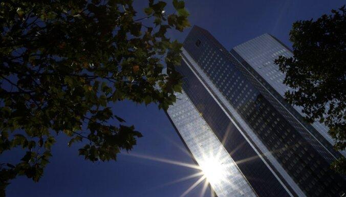 'Deutsche Bank' prognozē Vācijai recesiju šogad un nulles izaugsmi nākamgad