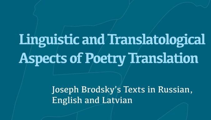 Izdod Jāņa Veckrāča monogrāfiju par Josifa Brodska darbu atdzejojumiem