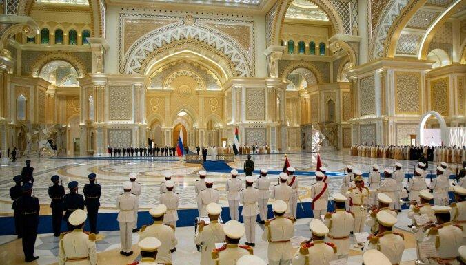 Путин послушал исковерканный гимн в вариации оркестра ОАЭ