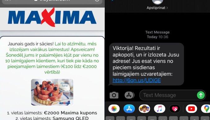 Maxima предупреждает жителей о мошеннической лотерее