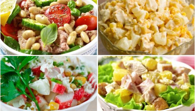 Vakariņas 20 minūtēs – veikli pagatavojami un sātīgi salāti laiskām brīvdienām