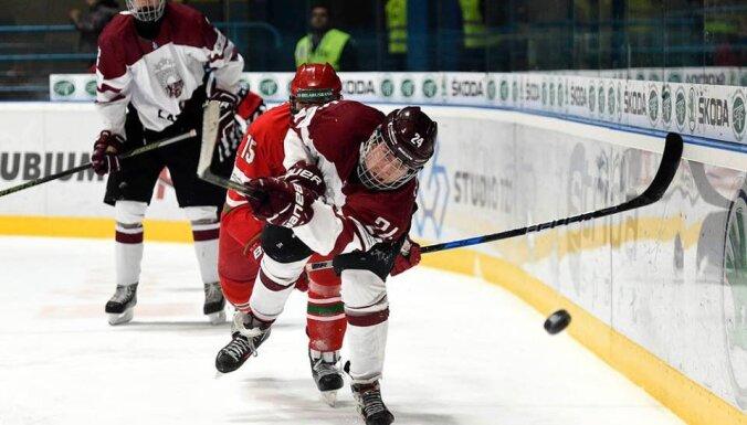 Latvia Edgars Petrovs #24 2017 IIHF U18 World Championship