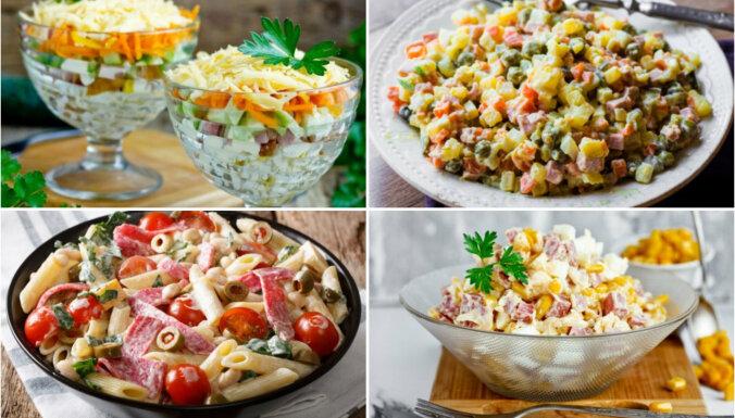 Doktora, mednieku vai salami: 14 gardi un sātīgi desu salāti