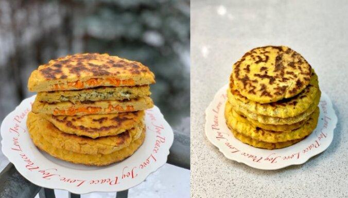 Рецепт на конкурс: Сырные лепёшки с начинкой