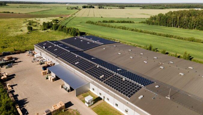 Латвийская производственная компания установила крупнейший в стране парк солнечных панелей