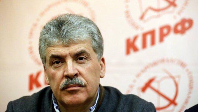 Kompartijas kandidāts Krievijas vēlēšanas dēvē par 'visnetīrākajām postpadomju telpā'