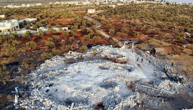 Al Bagdadi nāves vietā drupās atrod vēl līķus un ievainotos