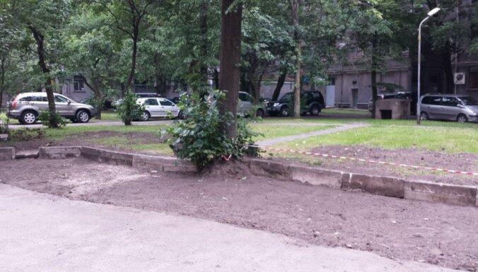 Autovadītāja Rīgā uzbrauc kokam un gūst traumas