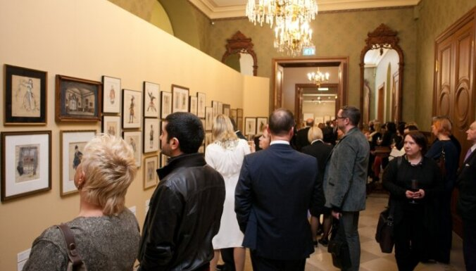 Foto: Barišņikova Mākslas centram piederošās Mihaila Barišņikova kolekcijas izstādes atklāšana