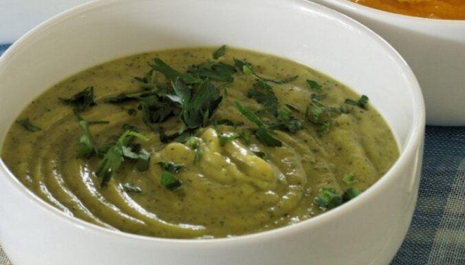 Крем-суп сo щавелем и авокадо