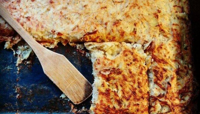 Ленивая картофельная запеканка с молотым мясом и творогом
