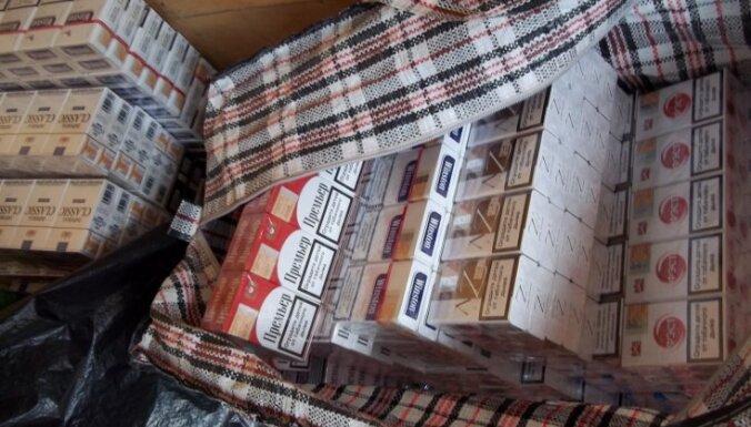 Jēkabpilī konfiscē 180 700 kontrabandas cigarešu