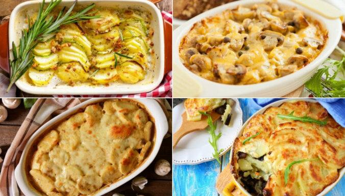 15 elementāri kartupeļu sacepumi bez gaļas vieglākam nedēļas sākumam