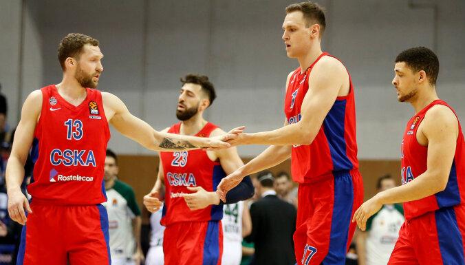 Strēlniekam seši punkti CSKA uzvarā Eirolīgas ceturtdaļfināla pirmajā spēlē