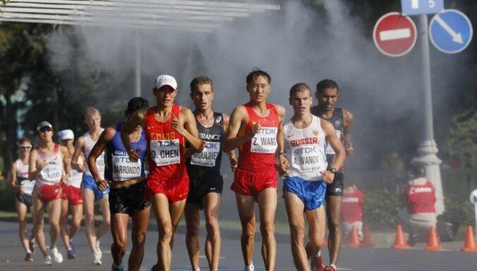 Soļotājam Rumbeniekam 42.vieta 20 kilometru distancē; PČ rīkotājai Krievijai pirmais zelts