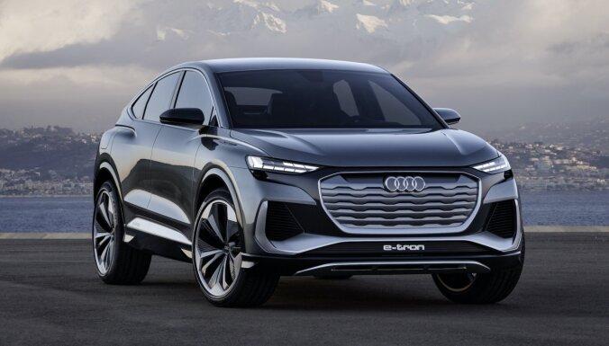 'Audi Q4 Sportback e-tron' koncepts demonstrē nākamgad gaidāmo modeli