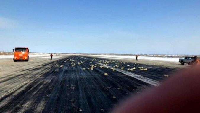 Krievijā no lidmašīnas izkritusi dārgmetālu krava