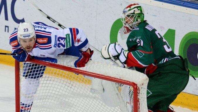 SKA Aleksey Ponikarovsky and Ak Bars goalie Anders Nilsson