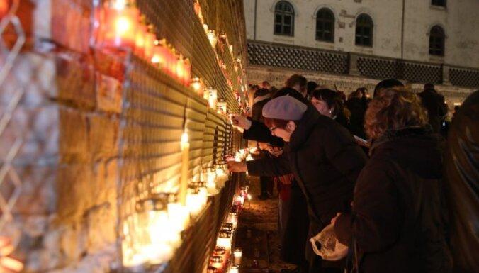 VNĪ izvietos aizsargsietu svecīšu novietošanai pie Rīgas pils mūra Lāčplēša dienā