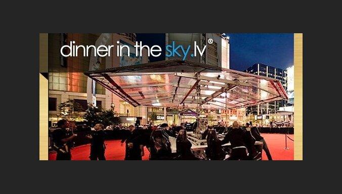 Dinner in the Sky gaisa restorāns Rīgā