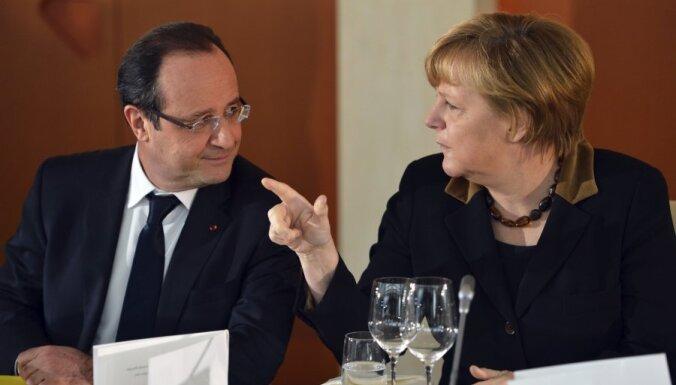 Francija un Vācija atbalsta 'pilna darba laika' eirozonas vadītāja amata izveidi