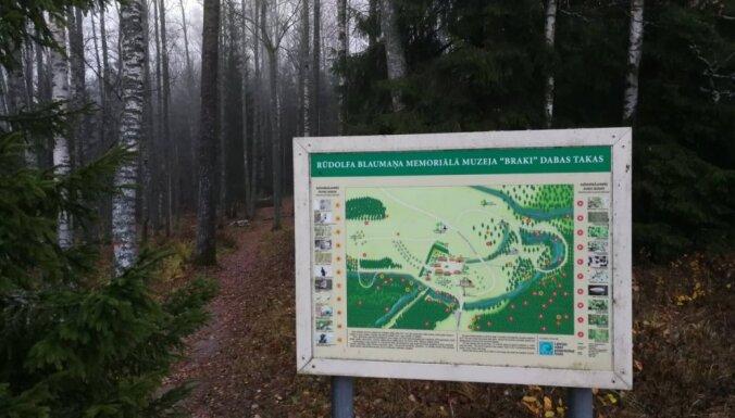 Braku muzeja meža drāma: pārceļ izsoli un ērglēniešu piketu koku aizstāvībai