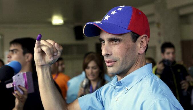 Sašķeļas Venecuēlas opozīcija – Kapriless cīnīsies vēlēšanās par spīti Gvaido boikotam