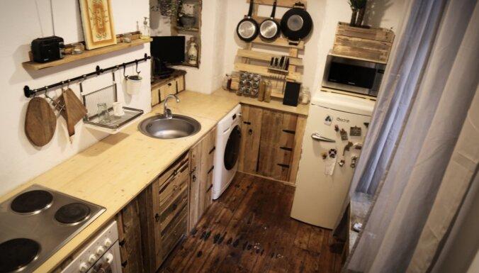 ФОТО. Ремонт кухни в рижской квартире всего за 30 евро? Легко и не напрягаясь!