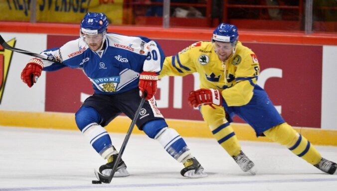 Zviedrijas hokejisti Eirotūres posmā sagādā zaudējumu somiem
