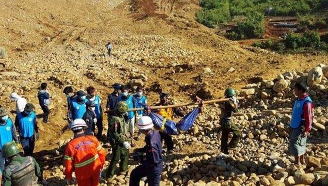 Pēc traģiskā nogruvuma nefrīta atradnēs Latvija izsaka līdzjūtību Mjanmai