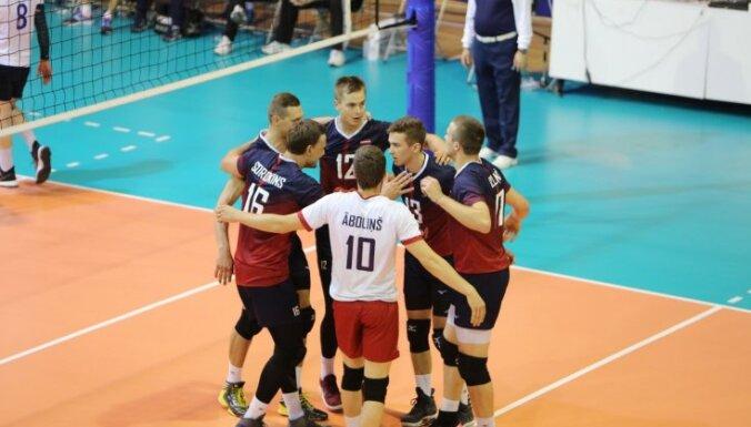 Латвийские волейболисты обыграли австрийцев и вышли в финальную часть Евролиги