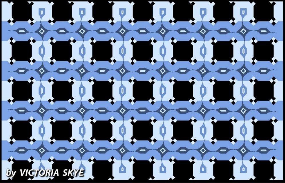 """Оптическая загадка: параллельны ли узоры на """"волнистых"""" голубых линиях?"""