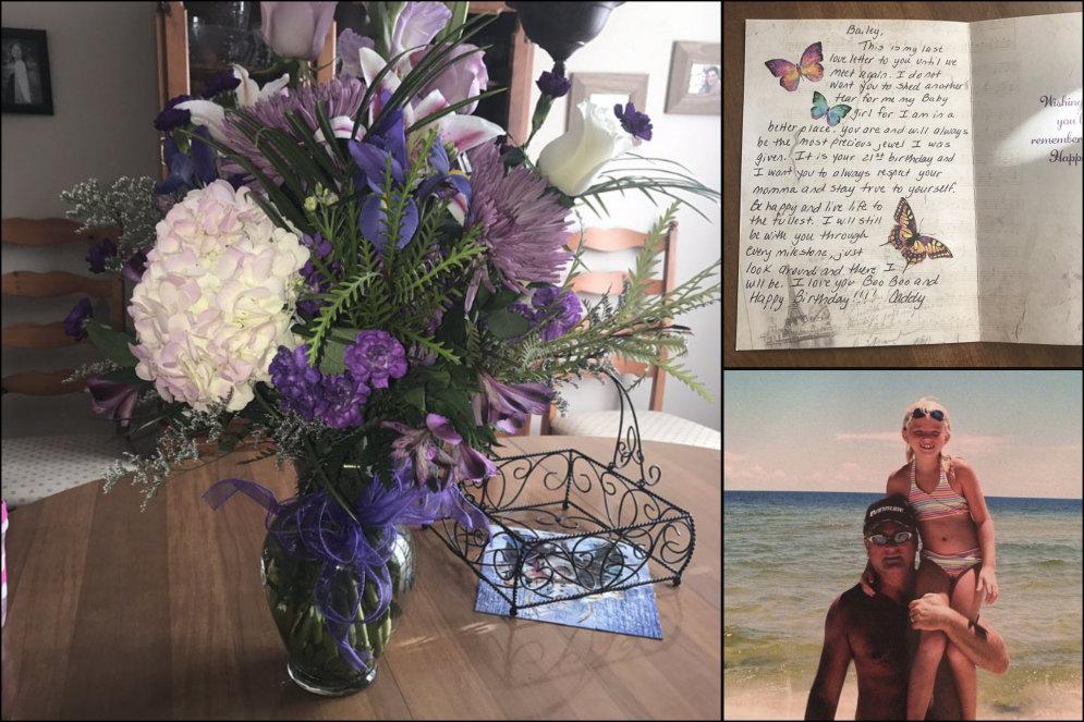 Дочь получила на 21-летие последний подарок от отца, умершего от рака четыре года назад