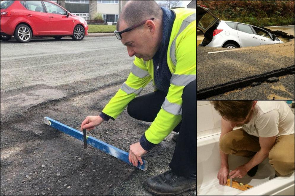 """ФОТО. Инженер нашел причину для """"не ремонта"""" ямы на дороге; был жестоко затроллен в ответ"""