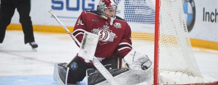 Rīgas 'Dinamo' sīvā cīņā Maskavā zaudē 'bullīšos'
