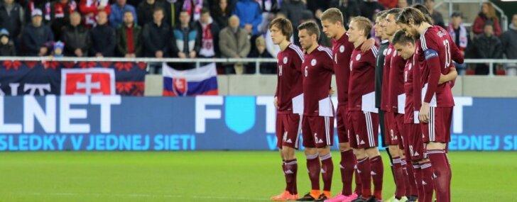 Latvijas futbola izlase FIFA rangā pakāpjas par vienu vietu