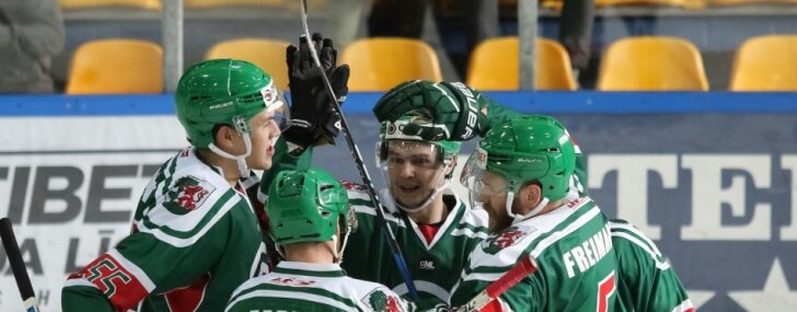 'Liepāja/Optibet' hokejisti uzvar arī Latvijas čempionvienību 'Kurbads'