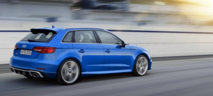 'Audi RS3 Sportback' turpmāk ar 400 zirgspēkiem
