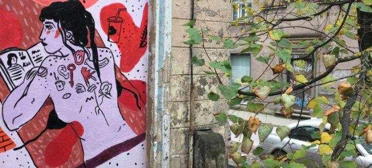 Kaņepes kultūras centru turpmāk daiļos deviņi jauni ielu mākslas darbi