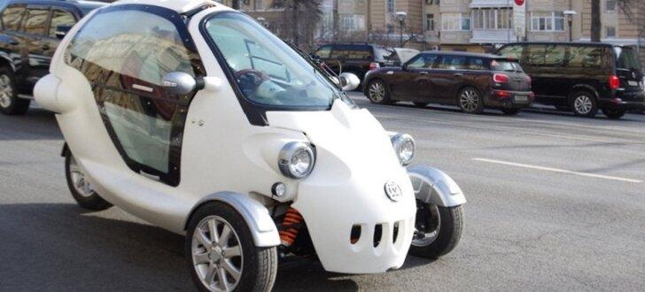 Krievijā no vietējām komponentēm izgatavots trīsriteņu elektromobilis