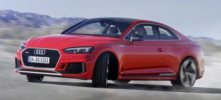 Jaunais 'Audi RS5' izrādījies jaudīgāks par 'BMW M4'