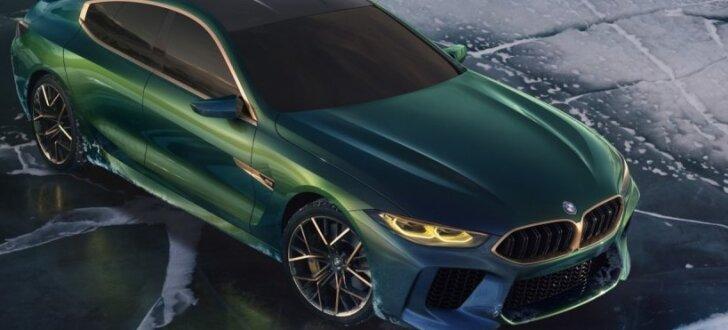 BMW demonstrē gaidāmo 8. sēriju ar 'M8 Gran Coupe' prototipu