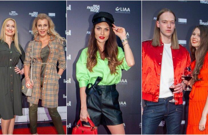 Rīgas modes nedēļas viesi sacenšas elegancē