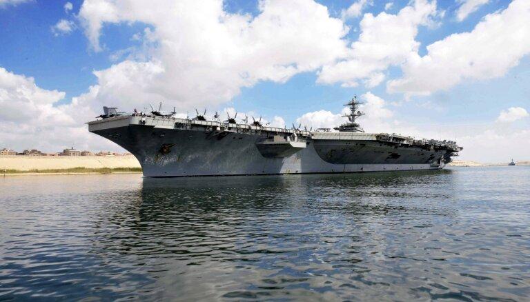 Irāna: ASV bāzeskuģis 'USS Abraham Lincoln' ir mērķis, ne drauds