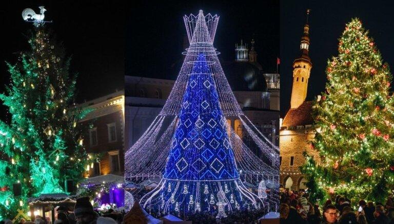 ФОТО. Где лучше всех - в Риге, Таллине или Вильнюсе? Голосуем за самую красивую елку