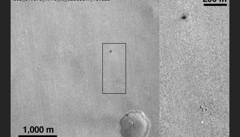 NASA zonde uzņēmusi attēlus ar 'Skjaparelli' piezemēšanās vietu