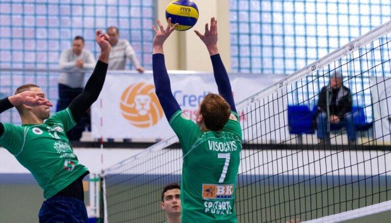 RTU/'Robežsardzes' volejbolisti sasniedz Baltijas līgas finālčetrinieku