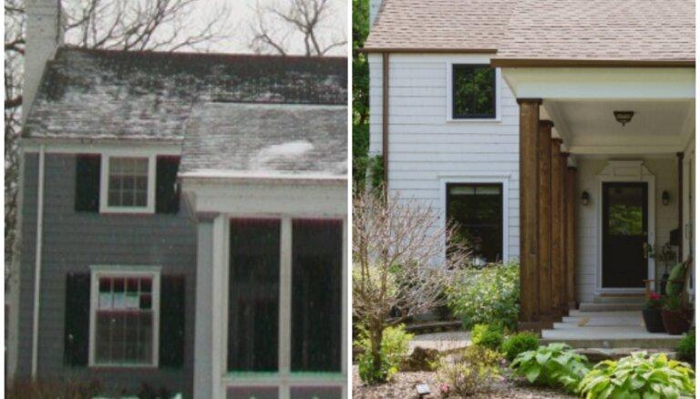 Pirms un pēc: piecu mājokļu fasādes piedzīvo pārvērtības