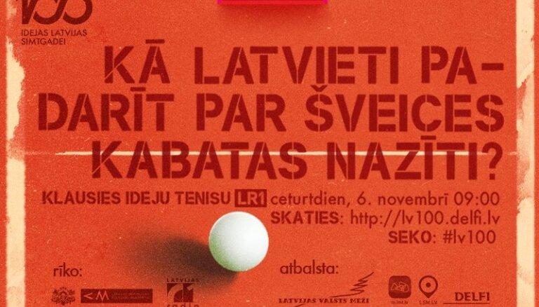 Raidījums: Ideju teniss. Kā latvieti padarīt par Šveices kabatas nazīti?
